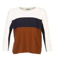 Textil Mulher camisolas Only REGITZE Branco / Marinho / Castanho