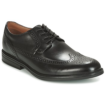 Sapatos Homem Sapatos Clarks BLACK LEATHER Preto
