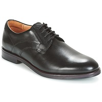 Sapatos Homem Sapatos Clarks Black Leather Preto