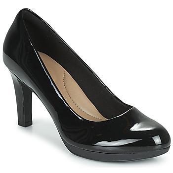 Sapatos Mulher Escarpim Clarks ADRIEL VIOLA Preto / Bege claro