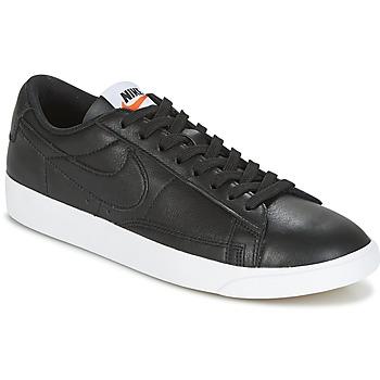 Sapatos Mulher Sapatilhas Nike BLAZER LOW LEATHER W Preto