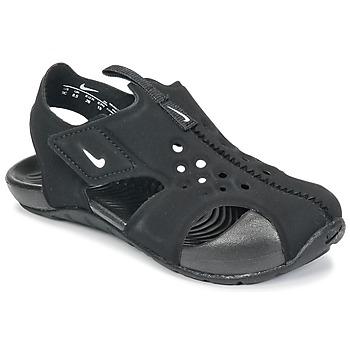 Sapatos Rapaz Sandálias Nike SUNRAY PROTECT 2 TODDLER Preto / Branco