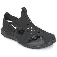 Sapatos Rapaz Sandálias Nike SUNRAY PROTECT 2 CADET Preto / Branco