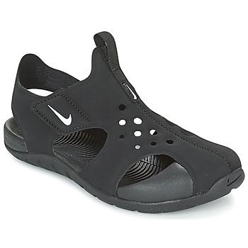 Sapatos Criança chinelos Nike SUNRAY PROTECT 2 CADET Preto / Branco