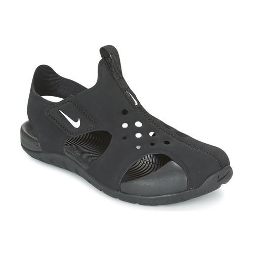 92da3d8b5 Sapatos Rapaz Sandálias Nike SUNRAY PROTECT 2 CADET Preto / Branco