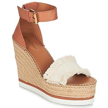 Sapatos Mulher Alpargatas See by Chloé SB28152 Conhaque / Bege