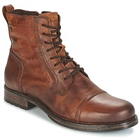 Sapatos Homem Botas baixas Jack & Jones RISSOL Castanho