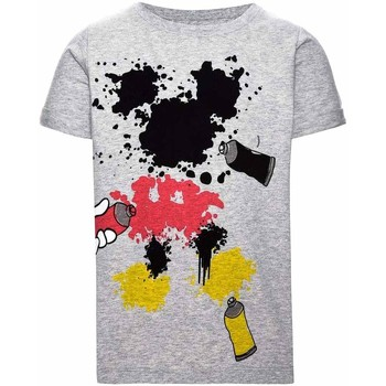 Textil Rapaz T-Shirt mangas curtas Name It Kids NITMICKEY COLT SS TOP MINI cinza