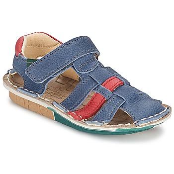 Sapatos Rapaz Sandálias El Naturalista KIRI Azul / Vermelho