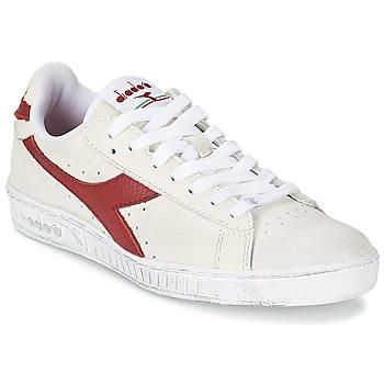 Sapatos Sapatilhas Diadora GAME L LOW WAXED Branco / Vermelho