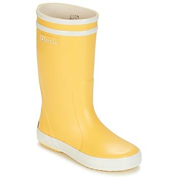 Sapatos Criança Botas de borracha Aigle LOLLY POP Amarelo / Branco