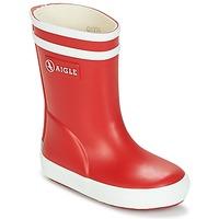 Sapatos Criança Botas de borracha Aigle BABY FLAC Vermelho / Branco