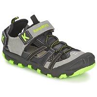 Sapatos Rapaz Sandálias Kangaroos KANGASPEED 2068 Preto / Verde