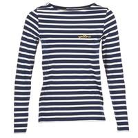 Textil Mulher T-shirt mangas compridas Betty London FLIGEME Marinho / Branco
