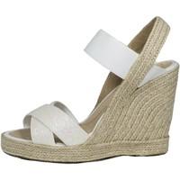 Sapatos Mulher Sandálias Mtbali Sandálias Tacão Compensado - White Star blanco