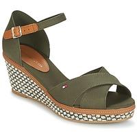 Sapatos Mulher Sandálias Tommy Hilfiger ICONIC ELBA SANDAL BASIC Verde