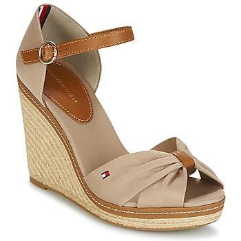 Sapatos Mulher Sandálias Tommy Hilfiger ICONIC ELENA SANDAL Bege