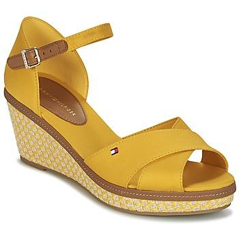 Sapatos Mulher Sandálias Tommy Hilfiger ICONIC ELBA SANDAL BASIC Amarelo