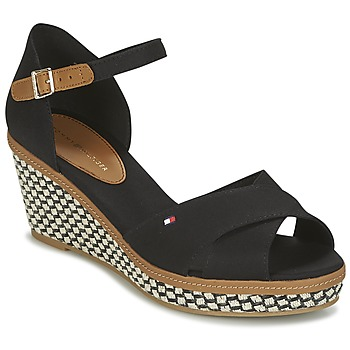 Sapatos Mulher Sandálias Tommy Hilfiger ICONIC ELBA SANDAL BASIC Preto