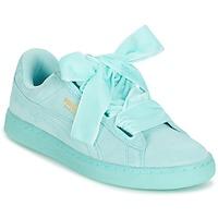 Sapatos Mulher Sapatilhas Puma SUEDE HEART RESET WN'S Azul / Pastel