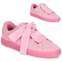 Sapatos Mulher Sapatilhas Puma SUEDE HEART RESET WN'S Rosa
