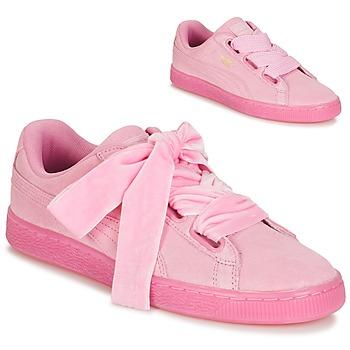 Sapatos Mulher Sapatilhas Puma WNS SUEDE HEART RESET.PINK Rosa