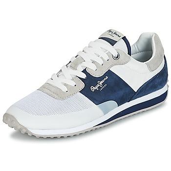 Sapatos Homem Sapatilhas Pepe jeans GARRET SAILOR Branco / Azul