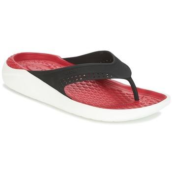 Sapatos Chinelos Crocs LITERIDE FLIP Preto / Vermelho