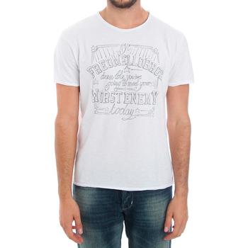 Textil Homem T-Shirt mangas curtas Fred Mello FMCLA99TG_BIANCO Blanco