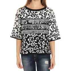 Textil Mulher camisolas Liu Jo F65252MA308_Y9004 Blanco