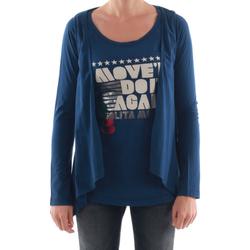 Textil Mulher T-shirt mangas compridas Nolita  Azul