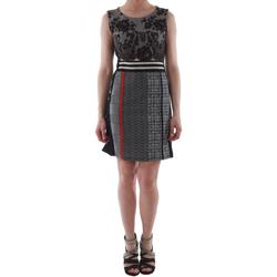 Textil Mulher Vestidos curtos Rinascimento 82008_NERO Negro