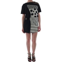 Textil Mulher Vestidos curtos Rinascimento 82024_NERO Negro