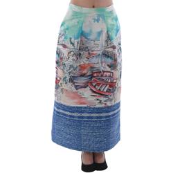 Textil Mulher Saias Rinascimento 4004/16_CELESTE Estampado