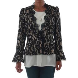 Textil Mulher Casacos/Blazers Rinascimento 7643_BEIGE Negro