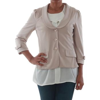 Textil Mulher Casacos/Blazers Rinascimento 1022_BEIGE Beige
