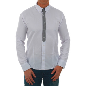 Textil Homem Camisas mangas comprida Sz Collection Man  Blanco
