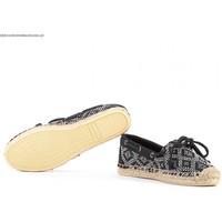 Sapatos Mulher Sapatos Sperry Top-Sider Alpargatas KATAMA BLK/WHT TRIBAL Preto