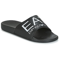 Sapatos chinelos Emporio Armani EA7 SEA WORLD VISIBILITY M SLIPPER Preto / Branco
