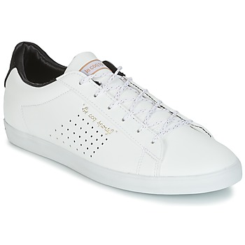 Sapatos Mulher Sapatilhas Le Coq Sportif AGATE LO S LEA/SATIN Branco / Preto