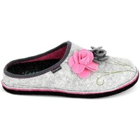 Sapatos Mulher Chinelos Fargeot Shannon Gris Rose Cinza