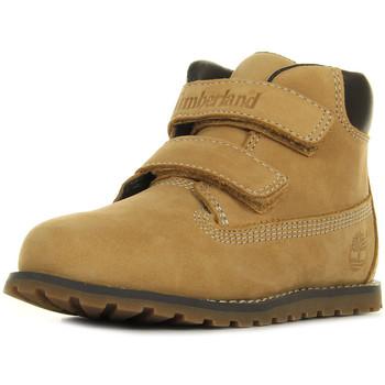 Sapatos Rapaz Botas baixas Timberland Pokey Pine Bege
