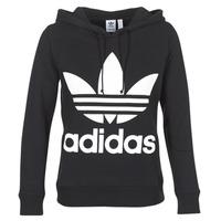 Textil Mulher Sweats adidas Originals TREFOIL HOODIE Preto