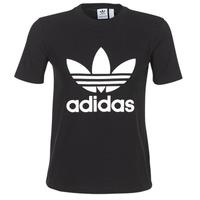 Textil Mulher T-Shirt mangas curtas adidas Originals TREFOIL TEE Preto