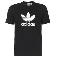 Textil Homem T-Shirt mangas curtas adidas Originals TREFOIL T SHIRT Preto