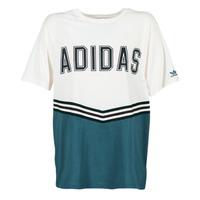 Textil Mulher T-Shirt mangas curtas adidas Originals ADIBREAK SS TEE Branco / Marinho