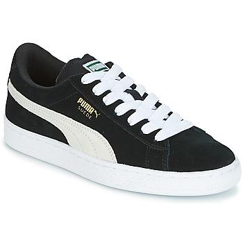 Sapatos Criança Sapatilhas Puma SUEDE JR Preto / Branco