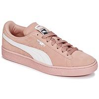 Sapatos Mulher Sapatilhas Puma SUEDE CLASSIC W'S Rosa / Branco