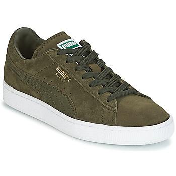 Sapatos Sapatilhas Puma SUEDE CLASSIC + Cáqui / Branco