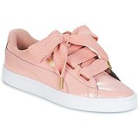 Sapatos Mulher Sapatilhas Puma BASKET HEART PATENT W'S Rosa